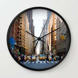 New York Minute Wall Clock