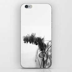 Flowers in black iPhone & iPod Skin