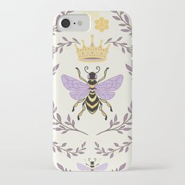 Queen Bee - Lavander Purple and Yellow iPhone Case
