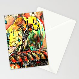 Budgie Love Stationery Cards