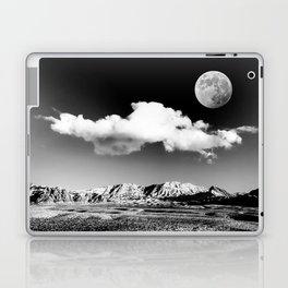 Black Desert Sky & Moon // Red Rock Canyon Las Vegas Mojave Lune Celestial Mountain Range Laptop & iPad Skin