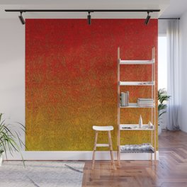 Flame Glitter Gradient Wall Mural