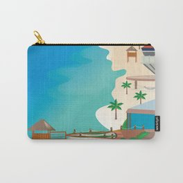Cancun, Mexico - Skyline Illustration by Loose Petals Carry-All Pouch