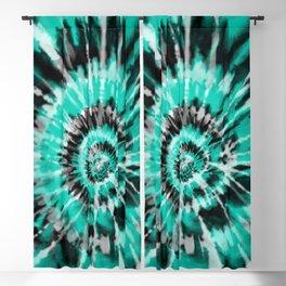 Teal Tie Dye Blackout Curtain