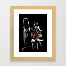 Through The Looking Glass Brown Framed Art Print
