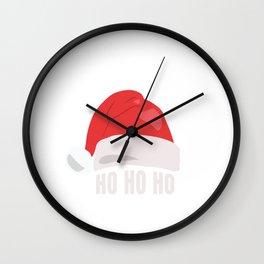 HO HO SANTA HAT Wall Clock