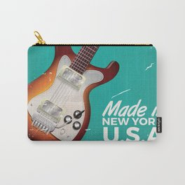 Vintage Guitar Commercial poster Carry-All Pouch