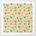 Cream Ikat Doodle Pattern by angiespurgeon