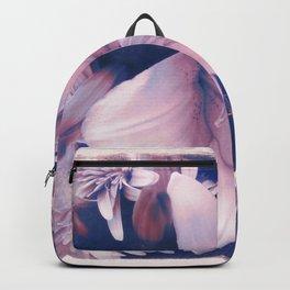 Ephemeral Beauty of Spring in Blue & Pink Backpack