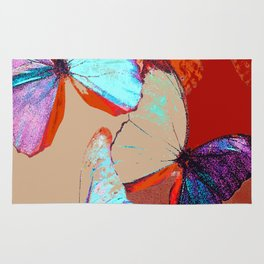 Butterflies in different colors Rug