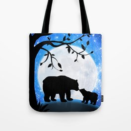Moon and bears Tote Bag