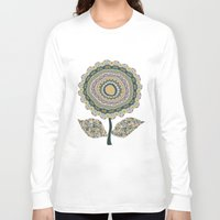 mineral Long Sleeve T-shirts featuring Fabby Flower-Mineral colors by Groovity