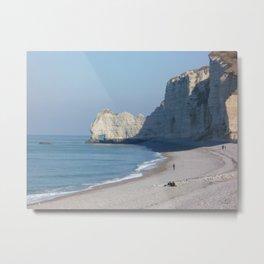 Beach at Etretat, France Metal Print