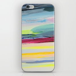 paint stripes iPhone Skin