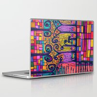 tour de france Laptop & iPad Skins featuring tour de france by karrenn