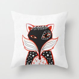 Kaleidoscope Fox Throw Pillow