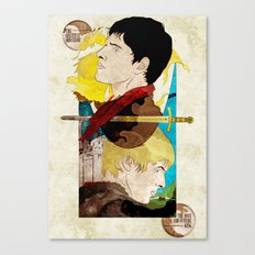 The King and His Sorceror Canvas Print