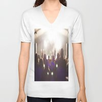 concert V-neck T-shirts featuring Concert by LaiaDivolsPhotography