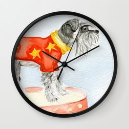 Starry Scruffy Schnauzer Wall Clock