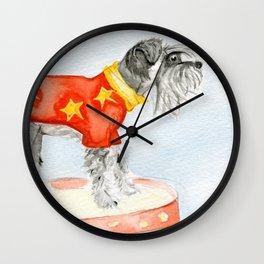Starry Scruffy Schnauzer Wall Clock
