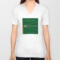robin hood V-neck T-shirts featuring No237 My Robin Hood minimal movie poster by Chungkong
