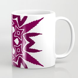 Cannabis Leaf Star Wreath (Tyrian Purple) Coffee Mug