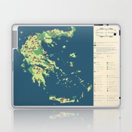 MAP OF GREECE Laptop & iPad Skin