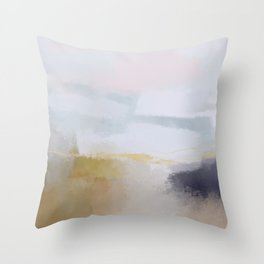pastel shore Throw Pillow