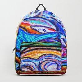 Sur ma boite en bois de pastels Backpack