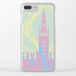 Giralda Sevilla cityscape Clear iPhone Case