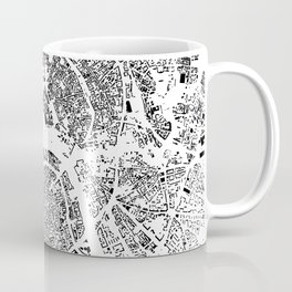 Moscow Map Schwarzplan Only Buildings Coffee Mug