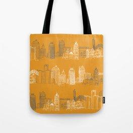 Detroit Architecture Landmarks Tote Bag