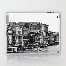 Along the Grand Canal b&w Laptop & iPad Skin