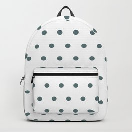 Gray Polka Dots Backpack