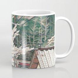 Passing by Cherry Blossoms Coffee Mug