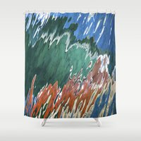 montana Shower Curtains featuring Montana Memories by Matt Tucker Photography