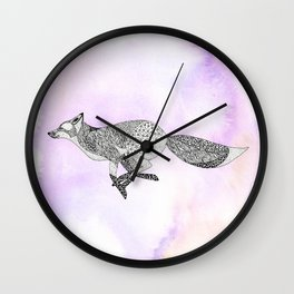 Running Fox Wall Clock