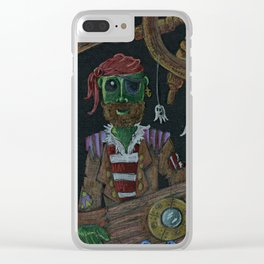 Pea King At Sea Clear iPhone Case