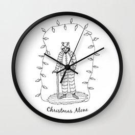 Christmas Alone - Old Man Wall Clock