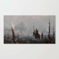 'last wooden knight, guardian of the forest' Canvas Print
