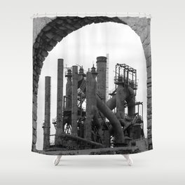 Bethlehem Steel Blast Furnace 7 Shower Curtain