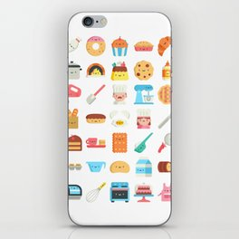 CUTE BAKERY PATTERN (CUTE CHEF BAKER) iPhone Skin