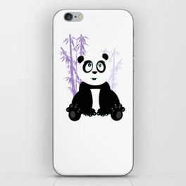 Panda Girl - Purple iPhone Skin