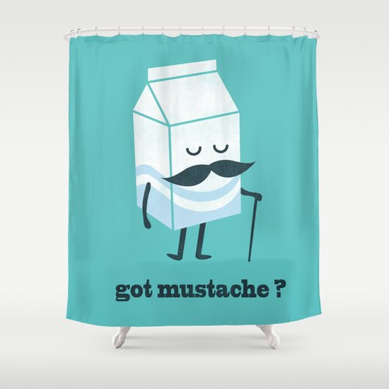 Got mustache? Shower Curtain