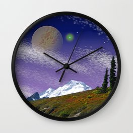 ON THE TRAIL TO DISTANT WORLDS Wall Clock