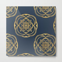 Nights in Blue and Gold Metal Print