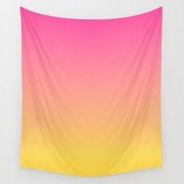 Pink and Yellow Ombre Print Wall Tapestry