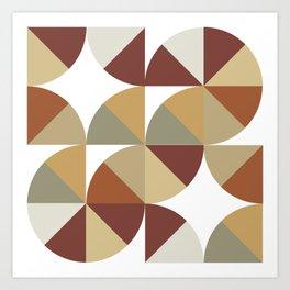 Brown Pies Art Print