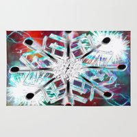 snowflake Area & Throw Rugs featuring Snowflake by Sarah Maurer