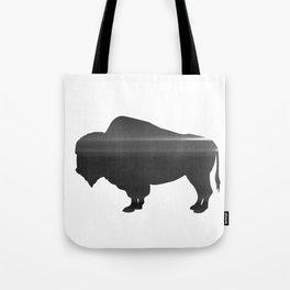 Buffalo print, Black & White Tote Bag